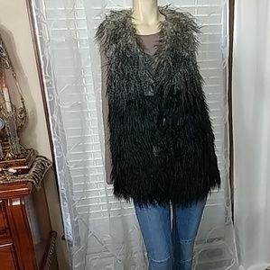 POCO COLETTE Faux Fur Ombre Vest NEW